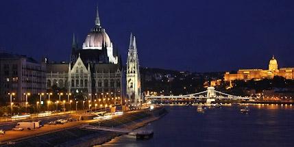 Фото Будапешта ночью