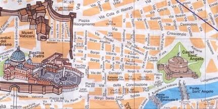 Туристическая карта Рима