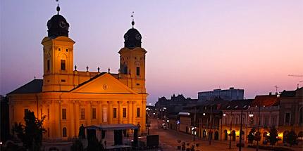Дебрецен. Фото ночью