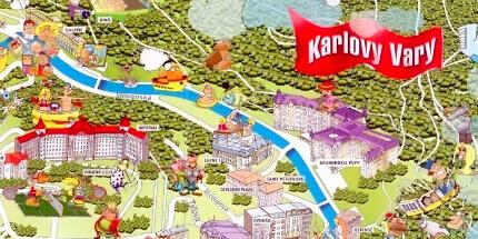 Карта Карловых вар