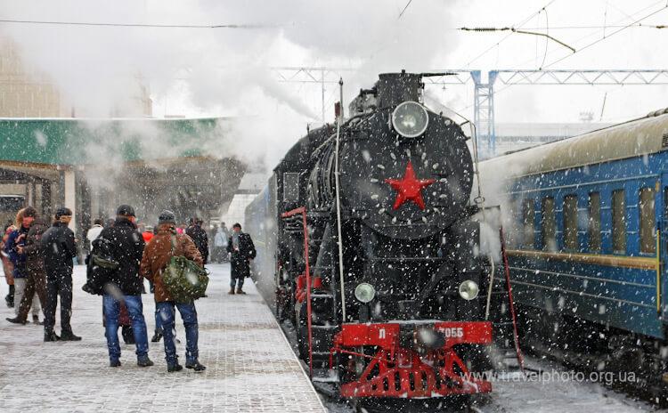 Исторически поезд в Киеве