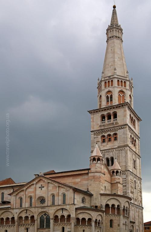 Модена, собор, башня Гирландина